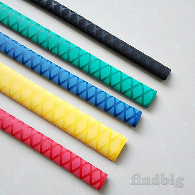 "X-Tube Heat Shrink Wrap Tubing, 39""&64"" Lengths for Rod Grips - 5 Color 12 Sizes"