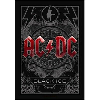 AC/DC Black Ice Fabric Poster Flag Textile Wall Banner Official New