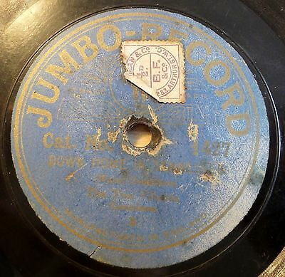 """The Two Filberts - Down Home In Tenessee - Jumbo-Records - /10"""" 78 RPM (8192"""