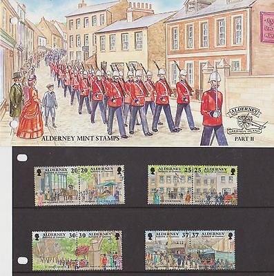 Alderney Presentation Pack 1998 Garrison Island Part Ii Stamp Set Mnh