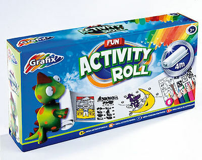 Brand New Grafix  4 Meter activity Roll  5 Coloring Pencils Kids Toys Gift