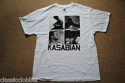 Kasabian Band B&W Squares T Shirt New Official Empire West Ryder Velociraptor