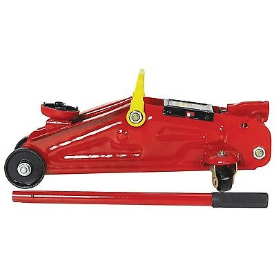 2 TONNE HYDRAULIC TROLLEY JACK 13.5 - 33cm LIFTING RANGE WITH CARRY CASE