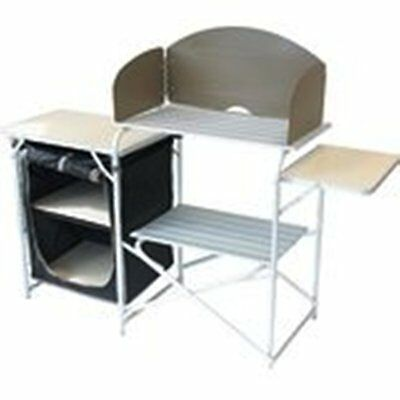 Aluminium kitchen Stand with Windshield & Larder (359977)