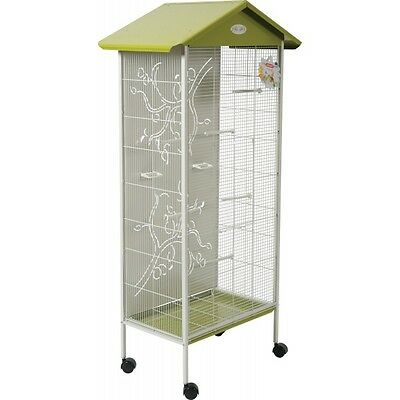 Grande voli re cage oiseaux canaries perruches for Cage d oiseau decorative