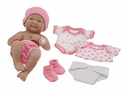 JC Toys La Newborn Girl 8 piece gift set Ages 2+ New NRFB