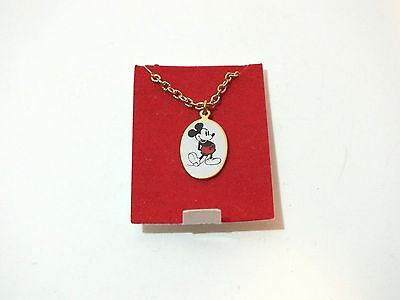 Vintage Mickey Mouse Charm Necklace 1961 Walt Disney Productions Favorites Gold