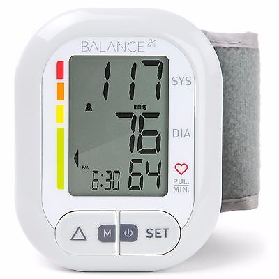 Balance Wrist Blood Pressure Monitor, High Accuracy, Easy-to-Read LCD Warranty