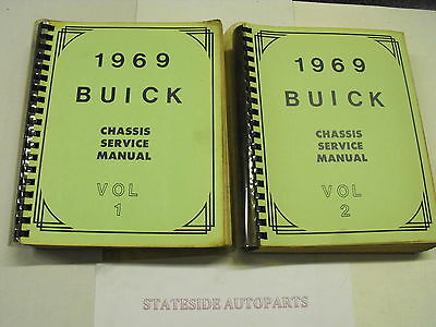 Buick Workshop Manual 1969 Electra,Wildcat Riviera and All 1969 Buicks.