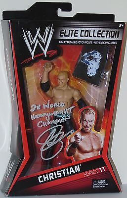 Wwe Wrestling Elite Figure Christian Series 11 Rare Hand-Signed With Coa/proof