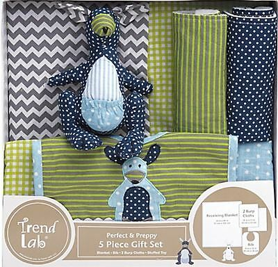 Trend Lab® 5-Piece Perfectly Preppy Welcome Baby Essentials Gift Set in