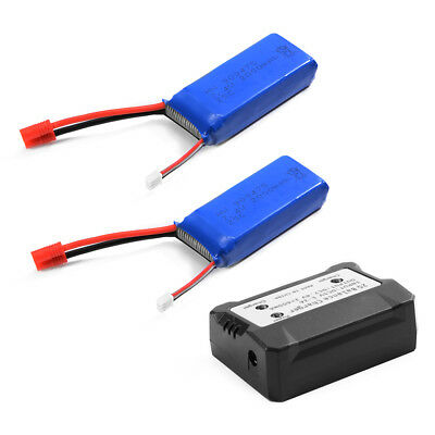 HOT Charger + Battery 7.4V 2000mAh 25C Lipo rechargeable Battery for Syma X8HW