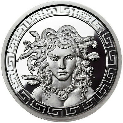 The Great Medusa 1 oz .999 Silver Proof Round USA Made All American Bullion Coin