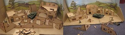 28mm Small Town of Ruins (Sets A & B Supplied) wargame scenery Bolt Action