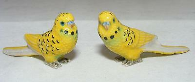 Klima Miniature Porcelain Pair of Budgerigars Yellow X860