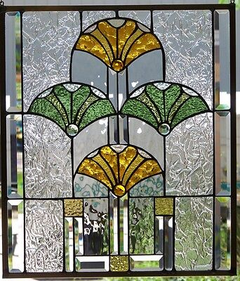"""Stained Glass Window Hanging 22 1/4 X 19 1/4"""""""