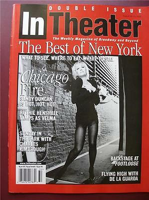 In Theater Magazine SANDY DUNCAN Roxie Hart  Chicago Ruthie Henshall Velma Kelly