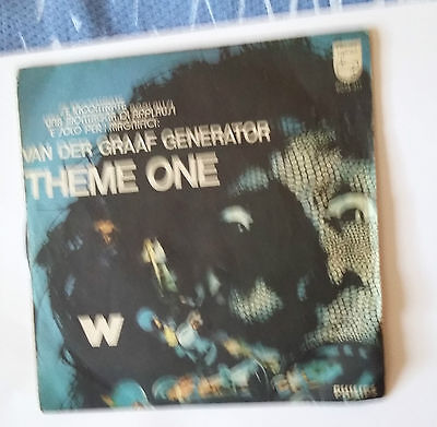 "Van Der Graaf Generation -Theme One -7"" Philips 6073311 Italy 1972 First Press"
