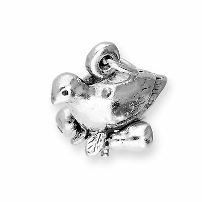 Partridge in a Pear Tree sterling silver charm .925 x1 Christmas charms SSLP1740