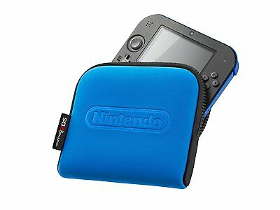 Official Nintendo 2Ds Carrying Case Console Carry Case Travel Blue **brand New**