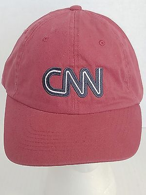 CNN Ball Cap Hat / Red with Blue and White Letters