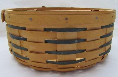 LONGABERGER BASKETS hand woven round signed 1999 made in the USA