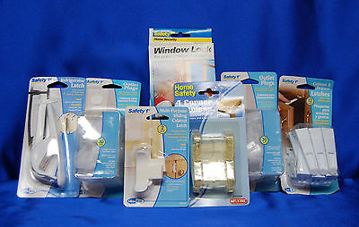 Baby SAFETY 1st Package Latches, Outlet Covers, Window Locks , + more Set  #  7