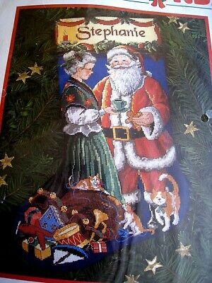 Christmas Dimensions Holiday Needlepoint Stocking Kit,A PAUSE FOR CLAUS,9115,16""