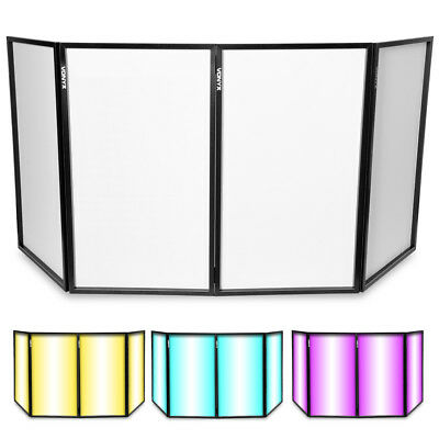 Scrim White Foldable Disco DJ Lighting Screen 4 Panel Façade Deck Stand Booth