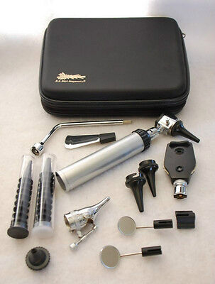 *NEW* ENT (Ear, Nose and Throat) Diagnostic Kit, Otoscope, Ophthalmoscope + Case