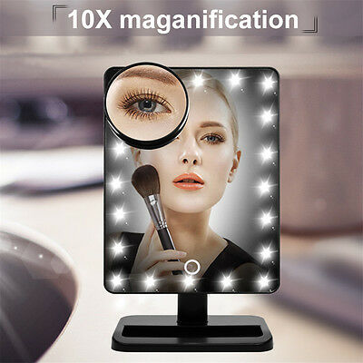 LED Lighted Vanity Makeup Mirror, 20 Light Bulbs and 10X Magnifying Spot Mirror