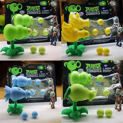 Baby Kid Plants vs. Zombies Peashooter Toy Snow Pea Soft Plastic Model Lovely