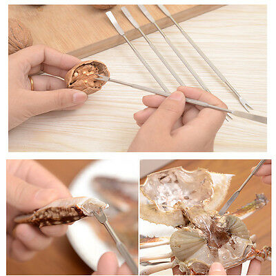Multifunctional Stainless Steel Walnut Seafood Crab Needle Tools Cracker Fork