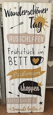 textschild holz schild wanddeko deutsch tafel shabby vintage neu eur 14 99 picclick de. Black Bedroom Furniture Sets. Home Design Ideas