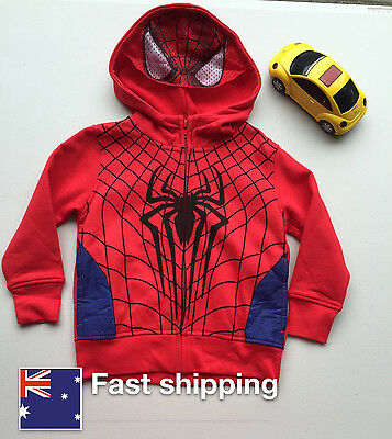 Kids Spiderman Clothes Hooded Sweatshirt Hoodie Jacket Boy Tracksuit Outfit Coat