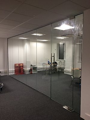 Glass Room Dividers - Full Height Glass Partitioning for home and office
