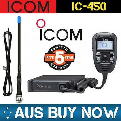 Icom Ic-450 Uhf Cb Two Way Radio Ic 450 Ic450Pro 440N Ic440N Antenna Aerial Gi