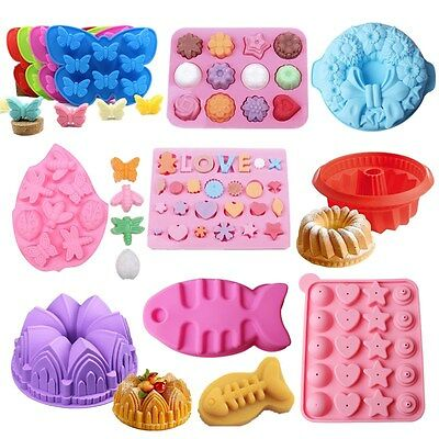35 Silicone Ice Cube Candy Chocolate Cake Cookie Cupcake Soap Molds Mould DIY