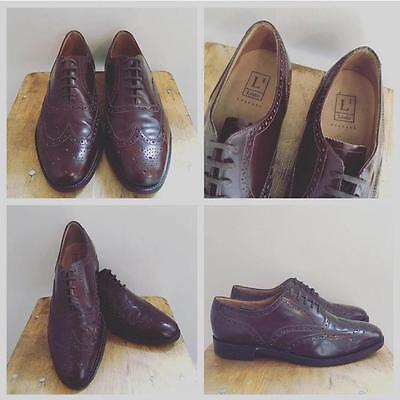Men's Vintage Loake Brown Leather Brogues Lace Up Shoes UK11