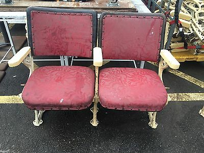 Antique Victorian Theatre Seats Ti2647