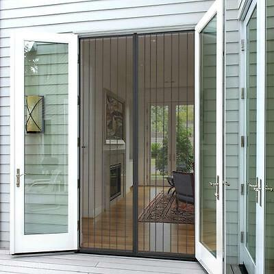 Magnetic Dual Seal Door Curtain Mesh Window Fly Bug Mosquito Insect Screen Net
