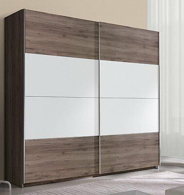 schwebet renschrank kleiderschrank schlafzimmer schrank 2 t ren eiche eur 399 00 picclick de. Black Bedroom Furniture Sets. Home Design Ideas