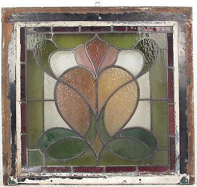 Antique Vintage Hanging Stained Glass Window (1416)NJ