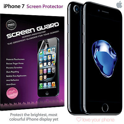 Pack of 3 Screen Protectors Apple iPhone 7 Plus. Scratch Protection Bundle - UK