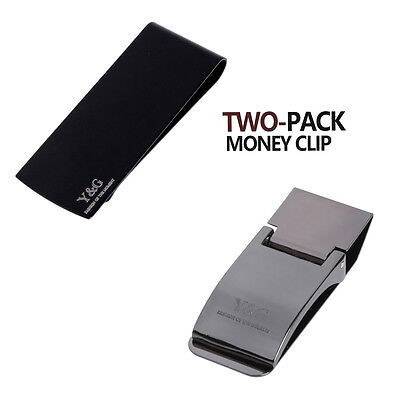 D-MJJ20002 Multi-Coloured 2pc Defective Stainless Steel Money Clip by Y&G