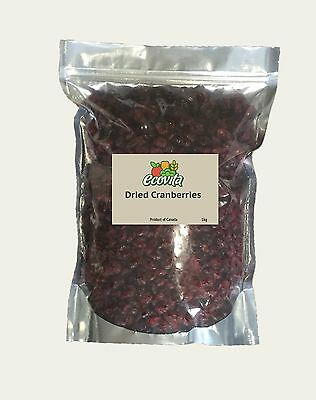 Ecovita Dried Cranberries - 1Kg (Product Of Canada)