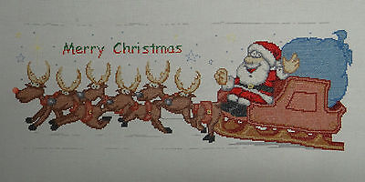Merry Christmas - Completed Cross Stitch
