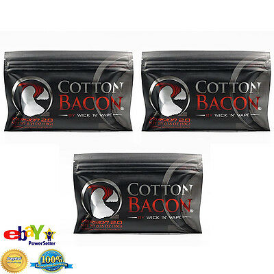 Cotton Bacon V2.0 By Wick n Vape!! Organic cotton wicking material Tasteless