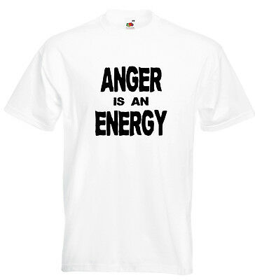 John Lydon Anger Is An Energy T Shirt PIL Johnny Rotten Sex Pistols PUNK