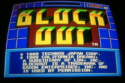 Block Out -- Technos / Boot-Leg / Working & Clean / Arcade Jamma Pcb  **  585